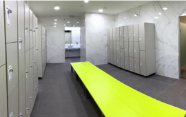 LOCKERS AND DRESSING ROOMS